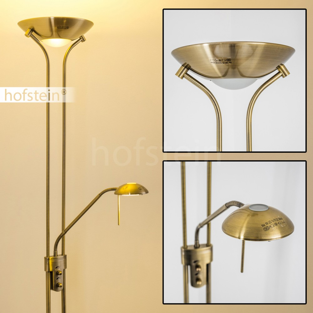 led floor lamp brass antique reading lighting standard lamp dimmer new 115145
