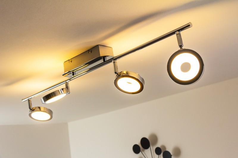 led deckenspot galli 4 x 5 watt 1600 lumen 3000 kelvin warmweiss wohnraumleuchten deckenlampen. Black Bedroom Furniture Sets. Home Design Ideas
