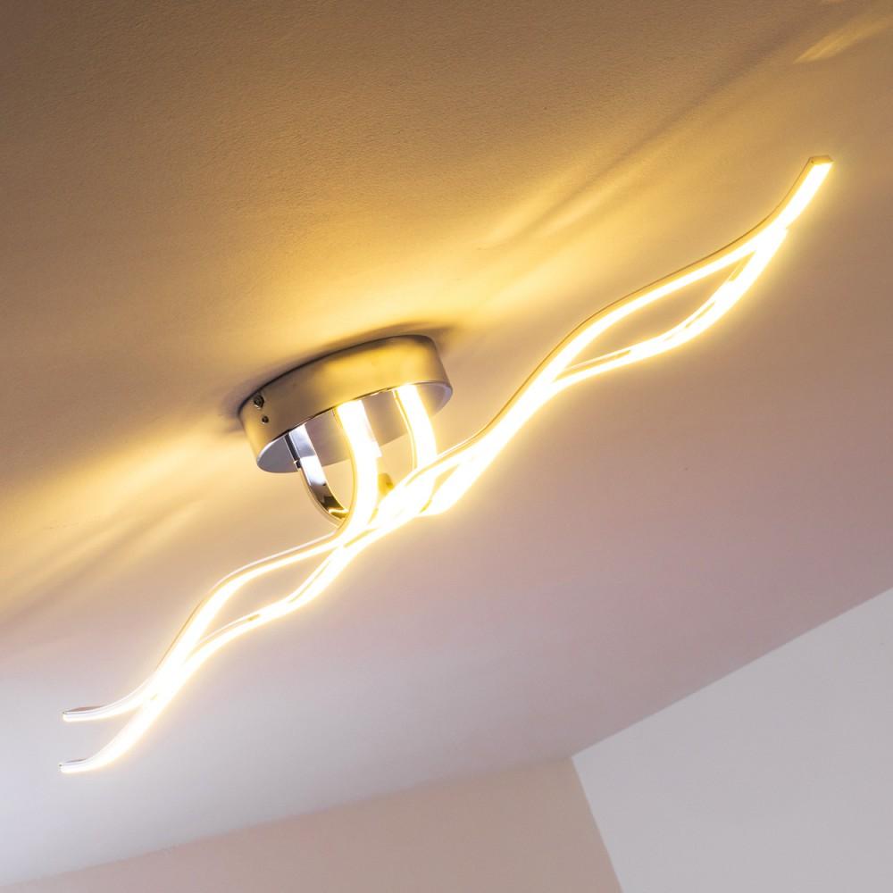 design led deckenleuchte leuchte chrom deckenlampe lampe deckenstrahler lampen ebay. Black Bedroom Furniture Sets. Home Design Ideas