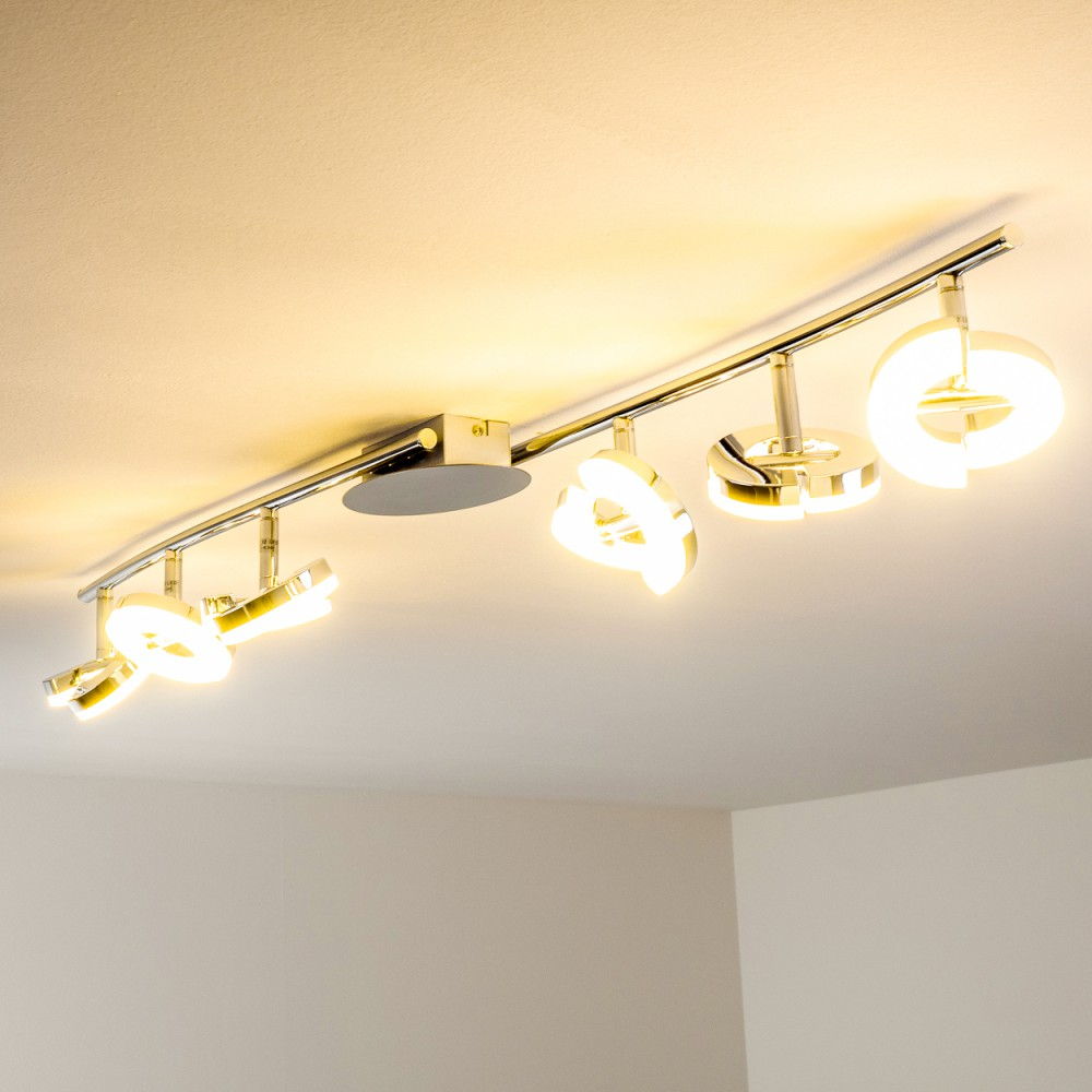 plafonnier led lampe suspension moderne lustre lampe de s jour chrom e 140489 ebay. Black Bedroom Furniture Sets. Home Design Ideas