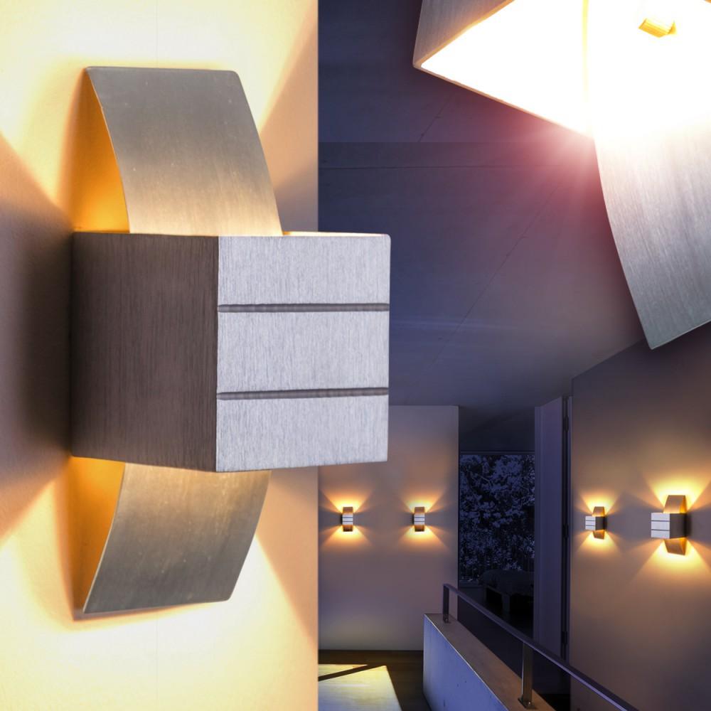 wandleuchte design wandstrahler flurlampe zimmer wandlampe lampe leuchten alu 51147 k ln. Black Bedroom Furniture Sets. Home Design Ideas