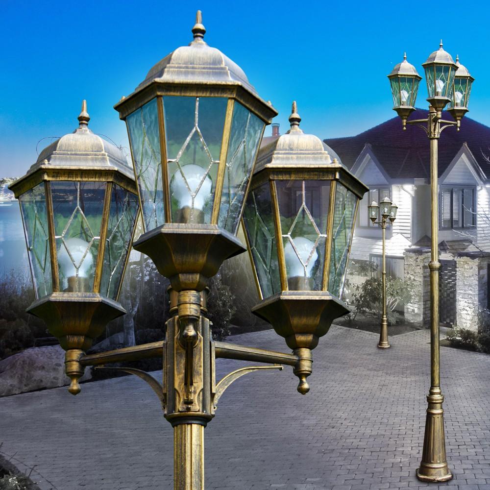 lampadaire lampe d 39 ext rieur r verb re luminaire de jardin lampe sur pied 142251 ebay. Black Bedroom Furniture Sets. Home Design Ideas
