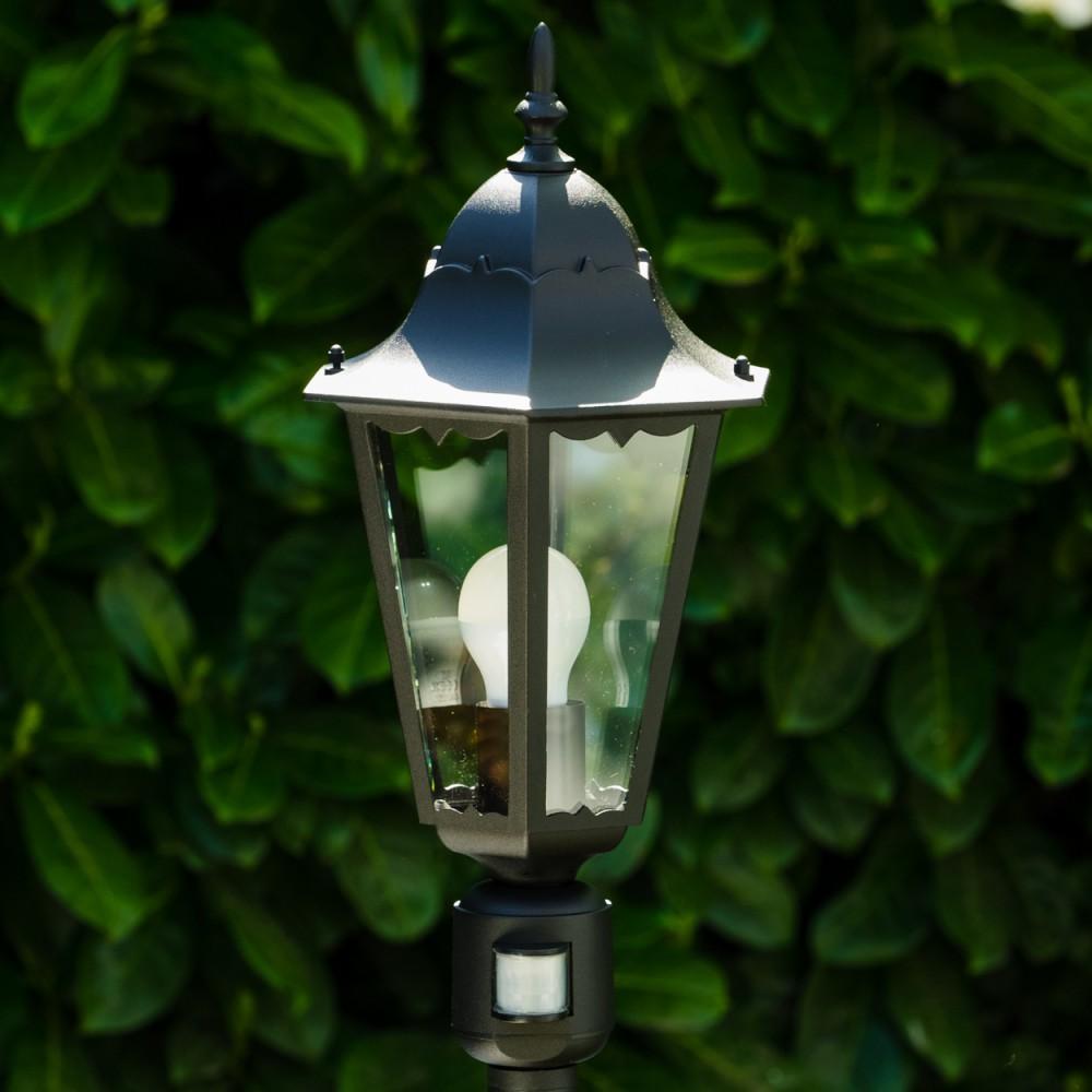 garten stehlampe mit bewegungsmelder aussen steh leuchte laterne wege lampe glas ebay. Black Bedroom Furniture Sets. Home Design Ideas