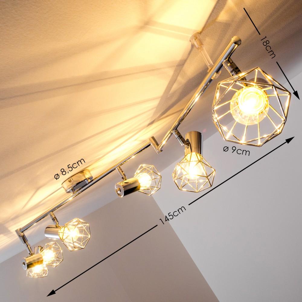 K chen strahler design deckenlampe vintage wohn zimmer for Deckenlampe 2 strahler