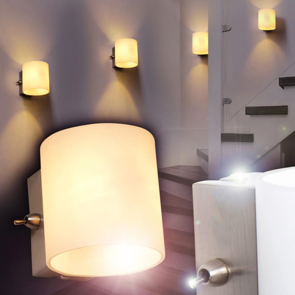 wandleuchte mit schalter design wohn zimmer lampen flur leuchten wand strahler ebay. Black Bedroom Furniture Sets. Home Design Ideas