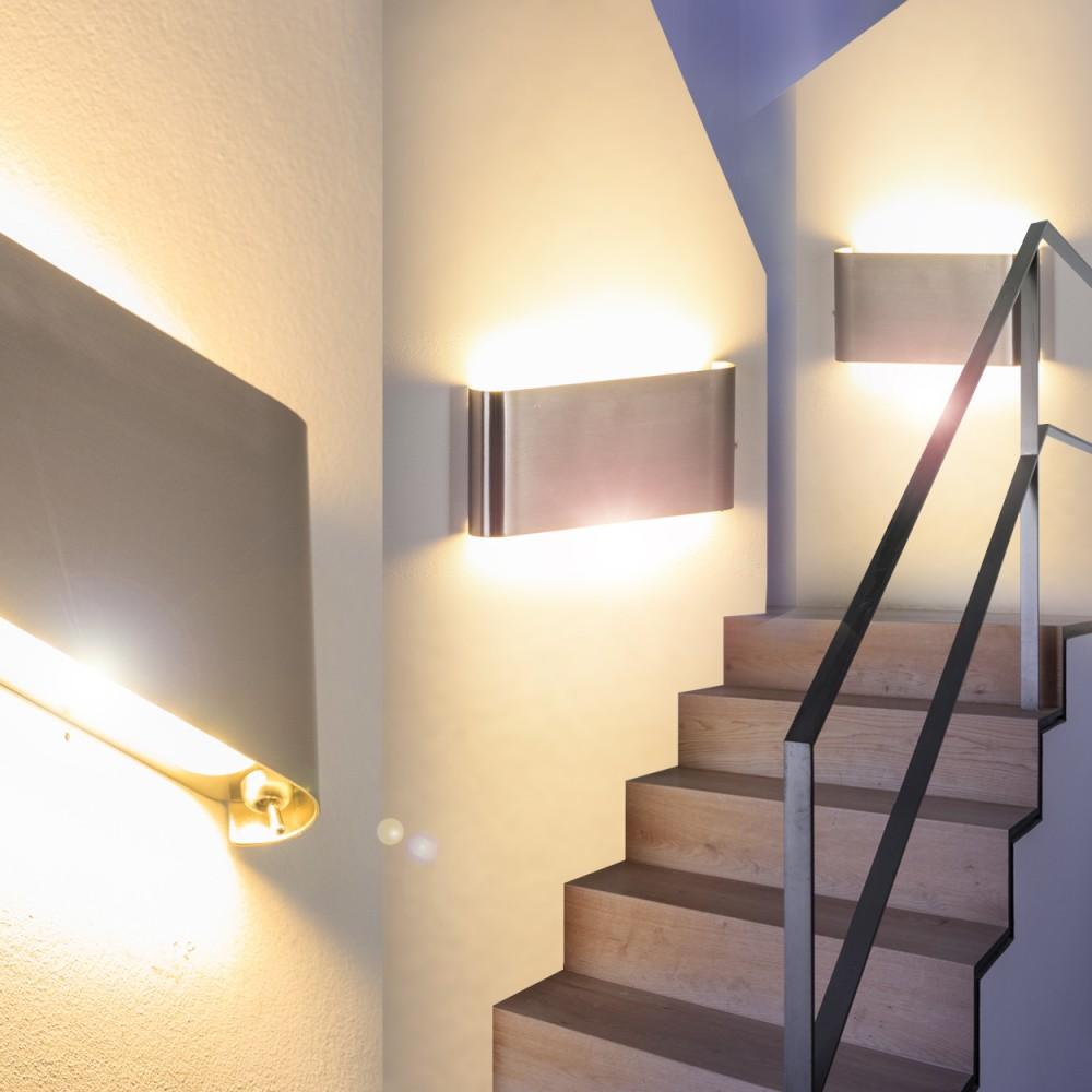 applique design led lampe de corridor spot lampe murale lampe de s jour 144396 ebay. Black Bedroom Furniture Sets. Home Design Ideas