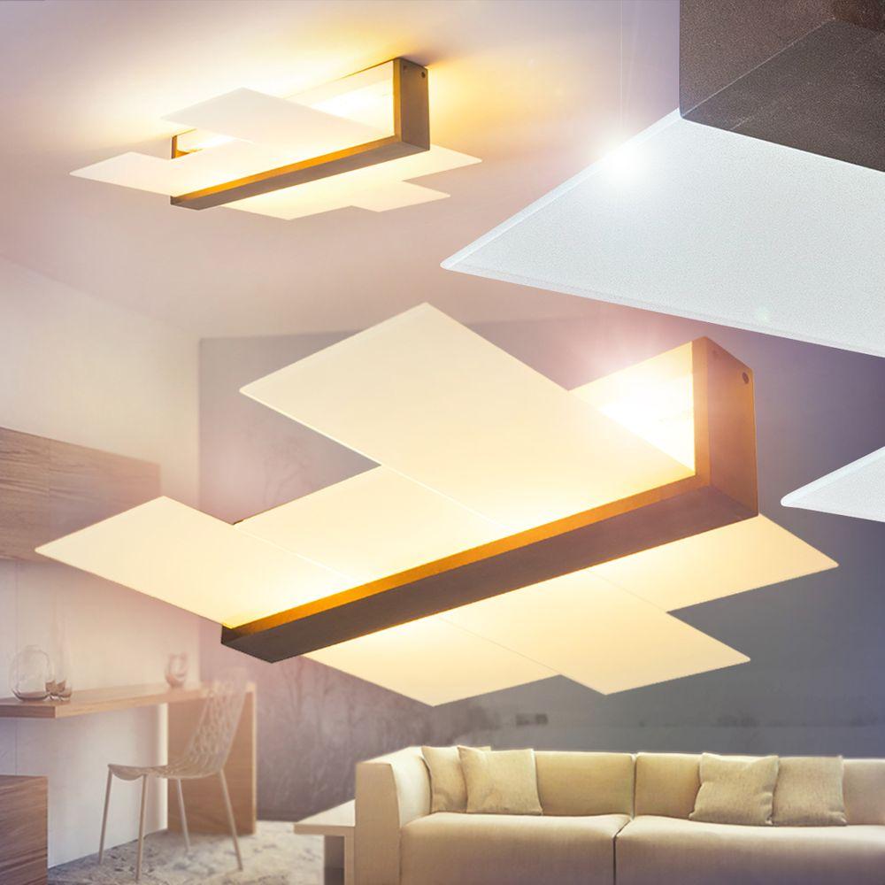 Design LED Deckenleuchte Wengi Flur Dielen Wohn Schlaf Raum Zimmer Beleuchtung