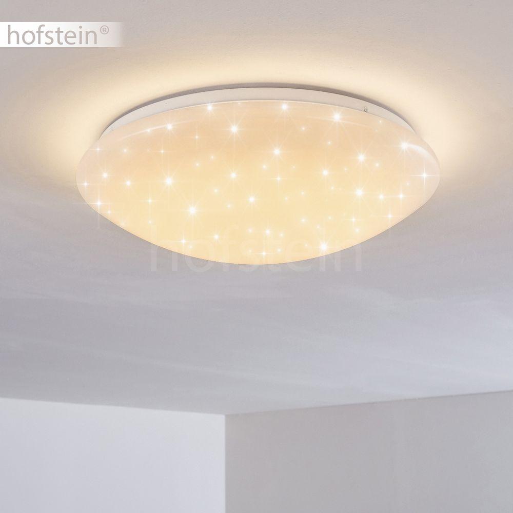 RGB LED Decken Leuchte rund dimmbar Schlaf Wohn Farbwechsel Lampe Sternen Effekt