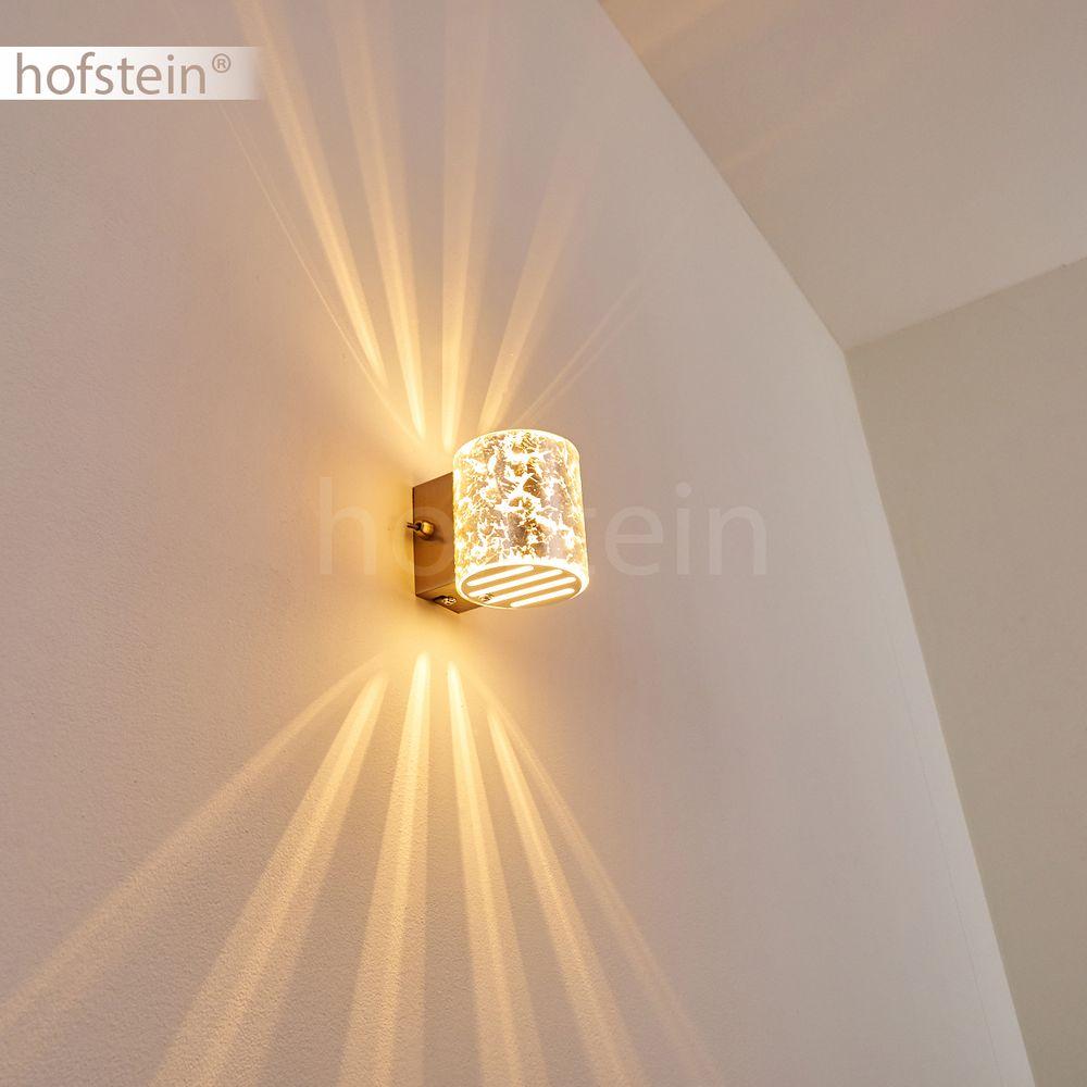 silberfarbene Up Down Wand Leuchten Schalter Flur Dielen Wohn Schlaf Raum Lampen