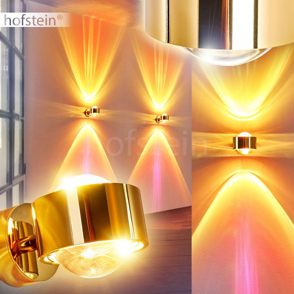 Flur Diele Büro Glas silberfarben Up Down Wand Leuchten Wohn Schlaf Raum Lampen