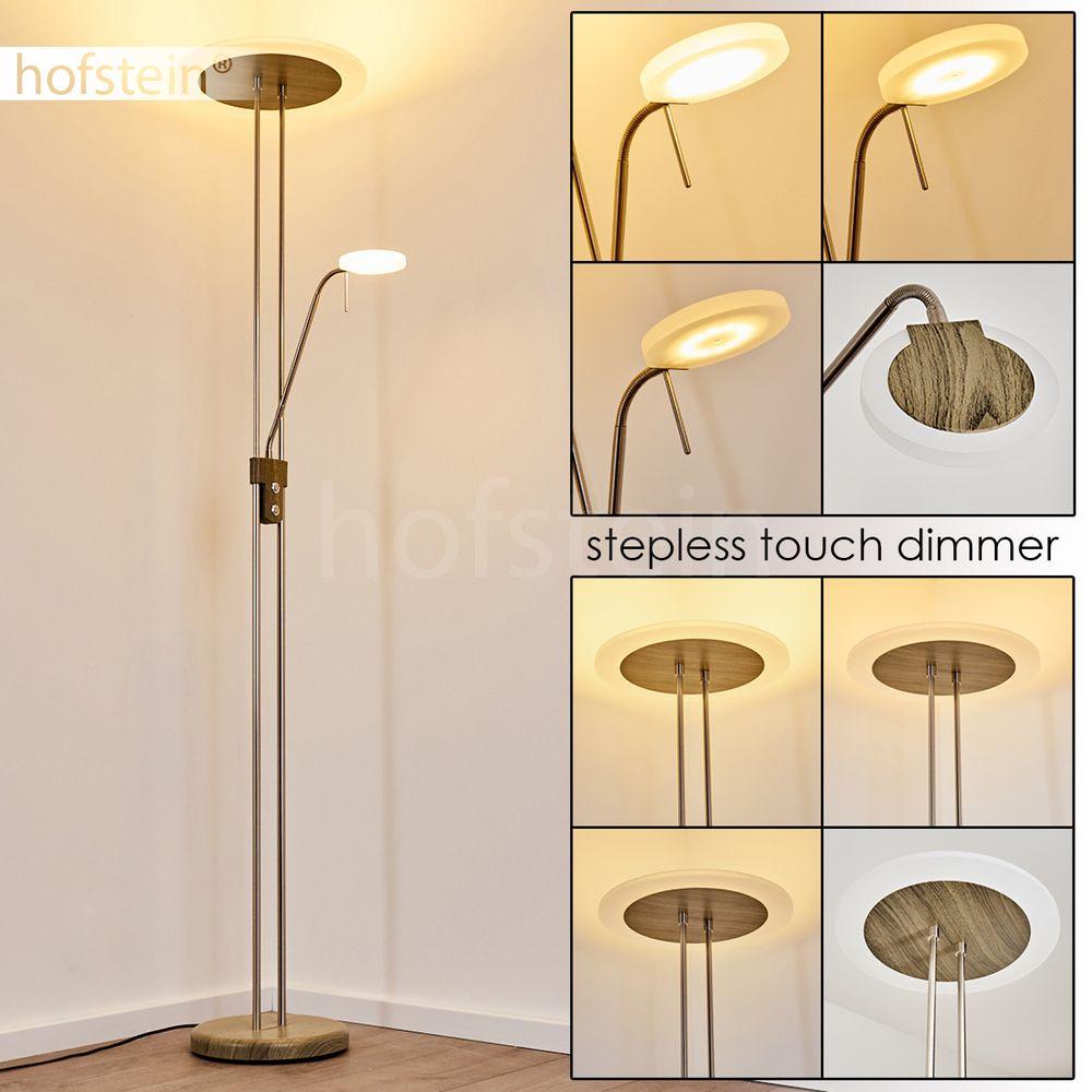 Büro LED Decken Fluter Steh Boden Leuchten Touch Dimmer Wohn Schlaf Raum Lampen
