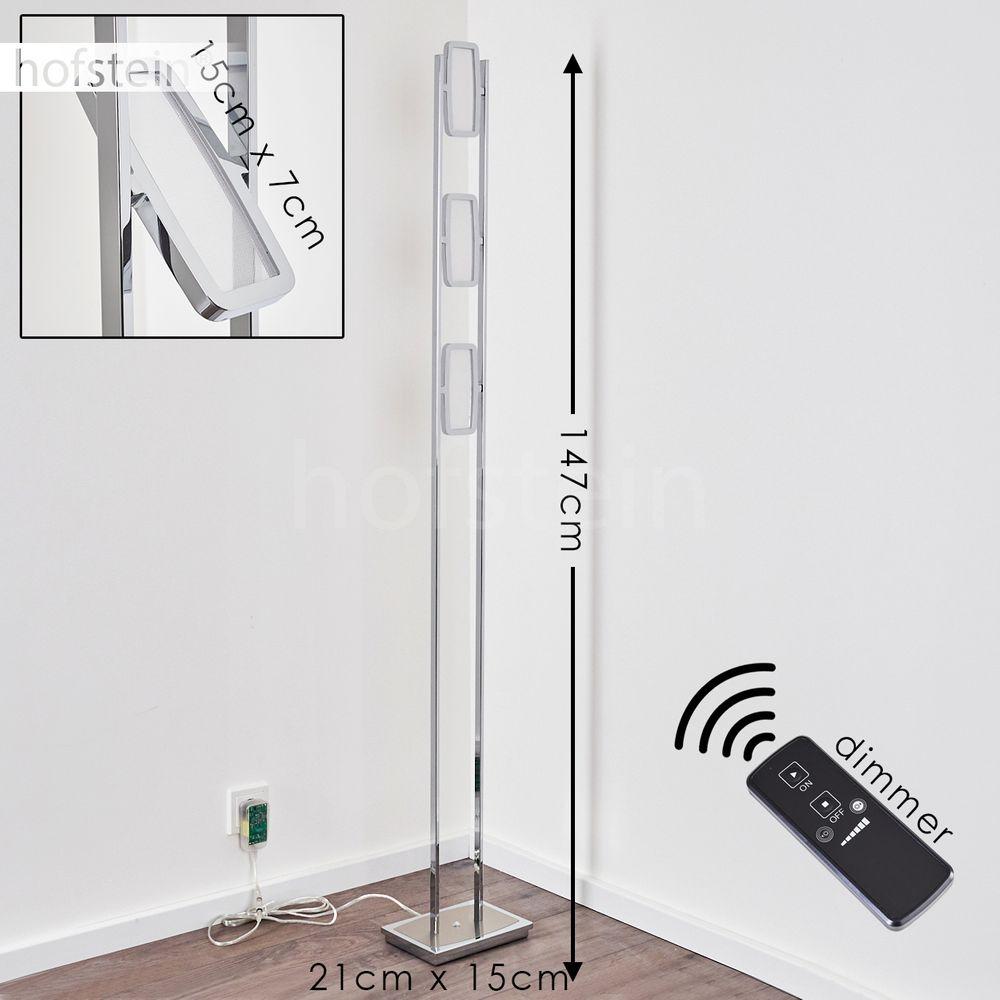 LED Stand Steh Lampe Wellen Design Schlaf Zimmer Fernbedienung Leuchte dimmbar