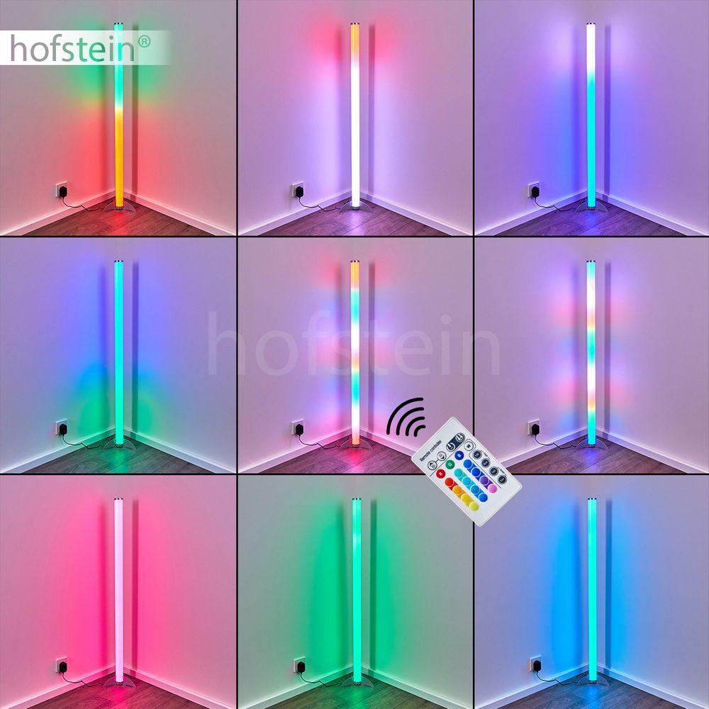 Design Steh Stand Lampe Fernbedienung Wohn Schlaf Raum Leuchte LED Farbwechsler