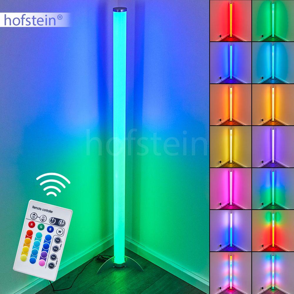 RGB LED 15 Watt Stehleuchte Wohnzimmer Papier Beistelllampe LxBxH 25x25x130 cm