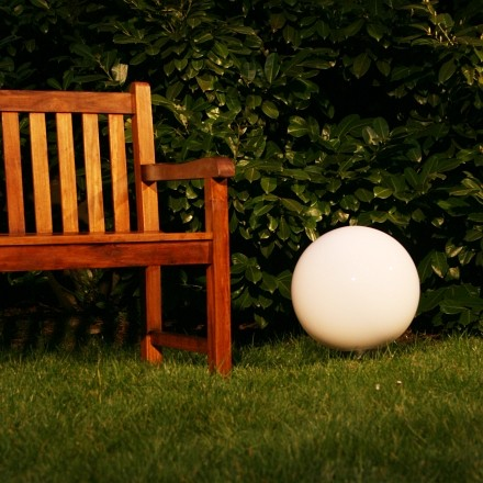 luminaires boule lumineuse de jardin terrasse 40cm 241 ebay. Black Bedroom Furniture Sets. Home Design Ideas