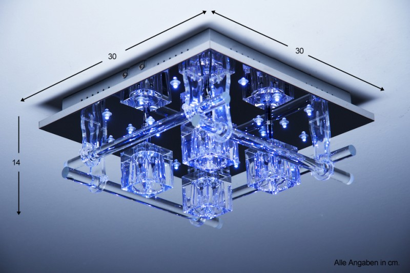 Plafoniere Per Van : Plafonnier à led design carré lustre lampe de salon suspension