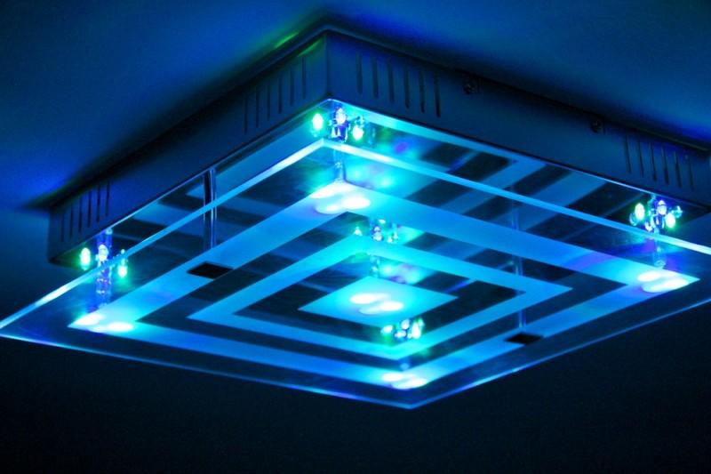 Design Lampe LED Farbwechsel Fernbedienung Deckenlampe Deckenleuchte ...