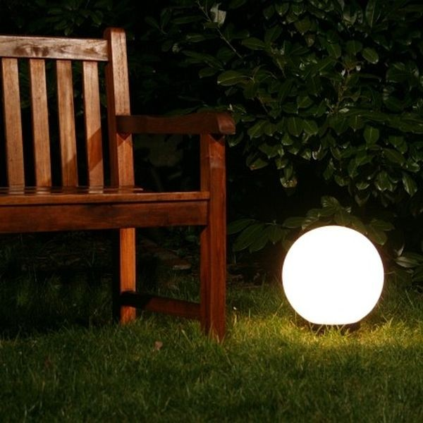 lampe de jardin boule lumineuse eclairage ext 30cm 465 ebay. Black Bedroom Furniture Sets. Home Design Ideas