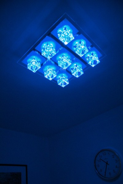LED Farbwechsel Design Deckenleuchte mit Fernbedienung Deckenlampe ...