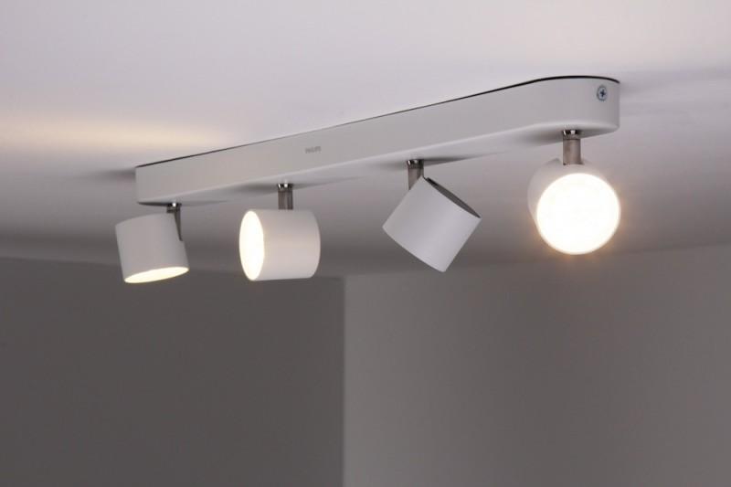 Plafoniera Led Philips My Living : Plafoniera metallo bianco philips power led spot da soffitto