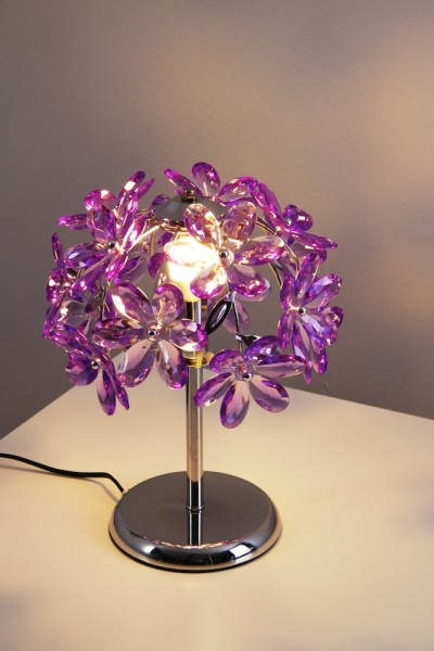 lampe de table dessin floral lampe liseuse lampe chevet couleur violette 51087 ebay. Black Bedroom Furniture Sets. Home Design Ideas