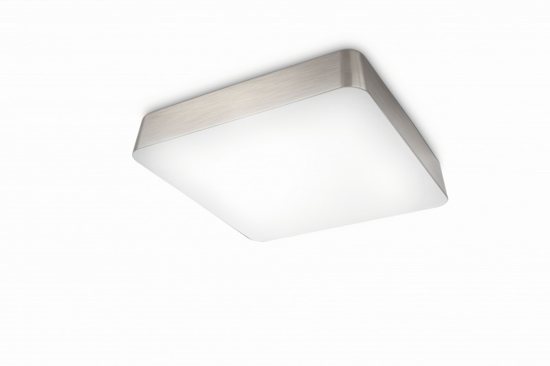 Philips square 1x40w design bathroom light ip44 ceiling flush lamp new 51133