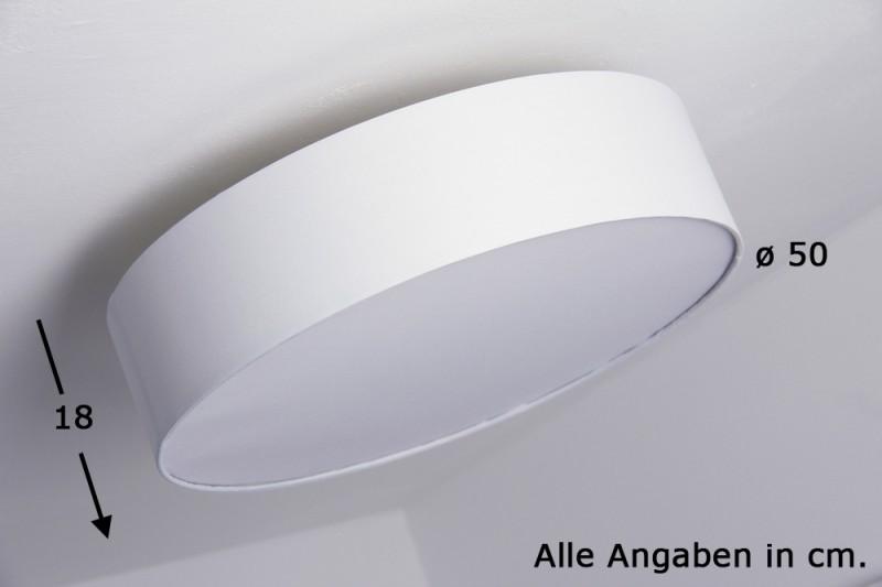 Deckenstrahler weiß Deckenlampe Deckenleuchte Lampe Leuchten Stoff ...