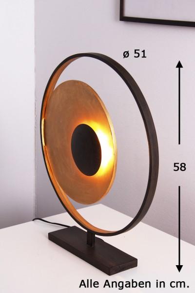 tischleuchte design nachttischleuchte goldfarben tischlampe nachttischlampe neu ebay. Black Bedroom Furniture Sets. Home Design Ideas