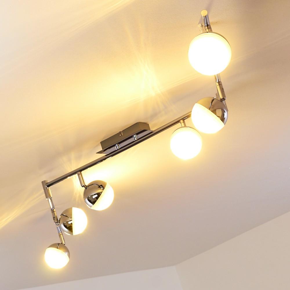 6 spots sur rail lampe suspension led plafonnier moderne. Black Bedroom Furniture Sets. Home Design Ideas