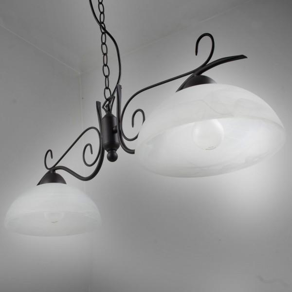 suspension lustre style campagne antique noir 9877 ebay. Black Bedroom Furniture Sets. Home Design Ideas